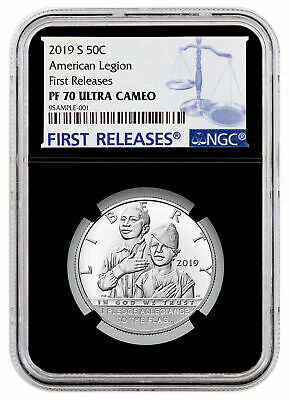 2019S American Legion 100th Clad Half Dollar NGC PF70 UC FR Black Core SKU57415