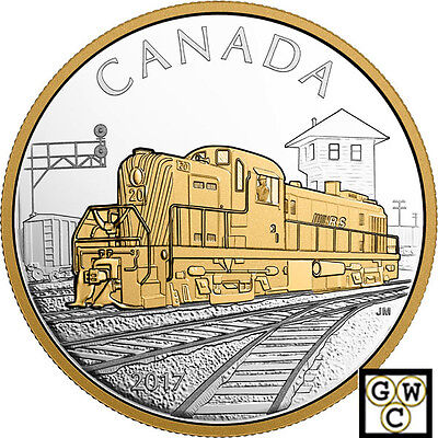 2017'The RS20 Locomotive' Gold-Plated Prf $20 Silver Coin 1oz .9999Fine(18159)NT