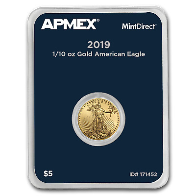 2019 1/10 oz Gold American Eagle (MintDirect® Single) - SKU#171452