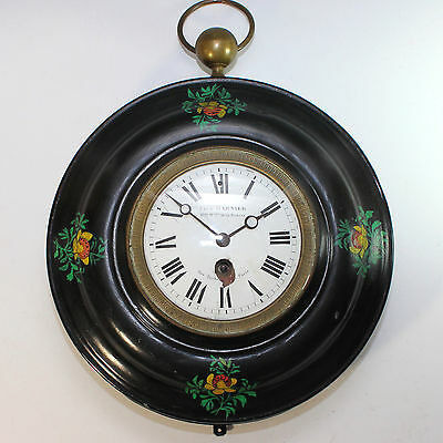 Large Paul Garnier Antique Toleware French Clock dated 1833 working