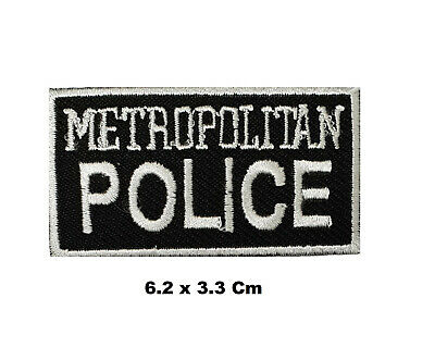 Metropolitan Police Logo Embroidered Patch Sew/ Iron-on Patch Badge