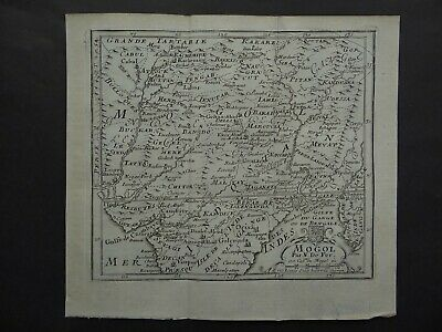 1695 Nicolas De Fer Atlas map  MOGOL - INDIA