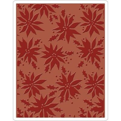 Sizzix Texture Fades A2 Embossing Folder - Poinsettias