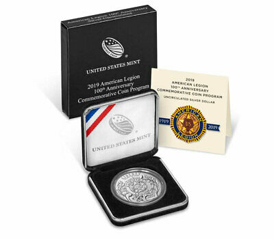 2019 P American Legion 100th Commemorative Silver Dollar GEM BU OGP SKU57425