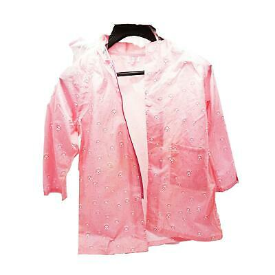 Waterproof Kids Raincoat 4/5 yrs Children Rain Suit Jacket Cover Pink Small