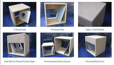 Pair Of 7'' Vinyl Record Storage Cubes
