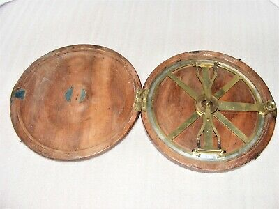 Antique Circular  Protractor  With Folding Arms And Rack  Adjustment  By Cary