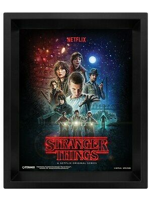 Stranger Things Poster One Sheet 3D Framed Lenticular 20x25cm