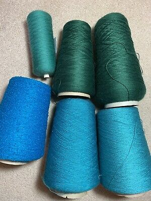 Mixed Green Yarn For Machine Knitting, including Yeoman Yarn