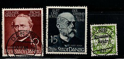 Item No. A6687 – Danzig – Scott # 238-239, 246 – Used