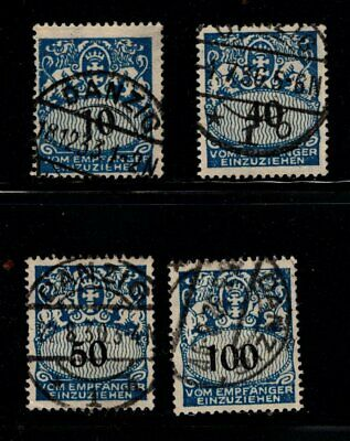 Item No. A6704 – Danzig – Scott # J31, J35-J36, J38 – Used