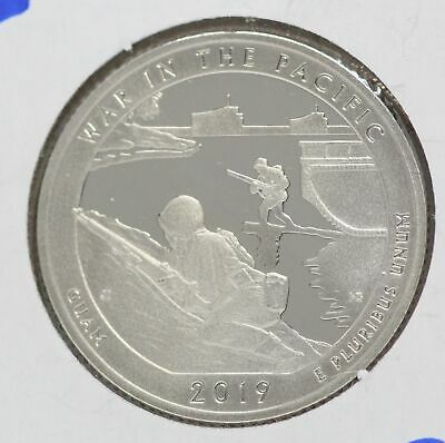 War in the Pacific Guam Clad Proof 2019 25C Washington Quarter ATB LE480