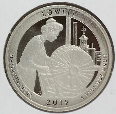 2019 Lowell Massachusetts Clad Proof Quarter ATB National Park America - LE485