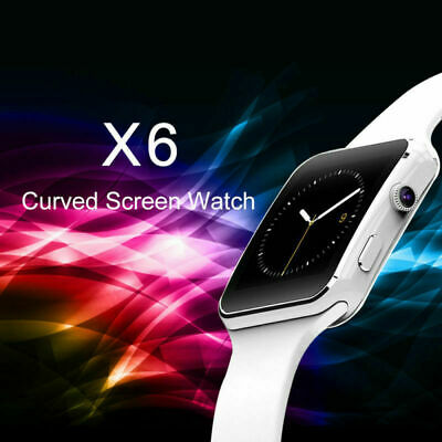X6 Bluetooth Uhr Smartwatch Armbanduhr Curved Display Android iOS Samsung Huawei