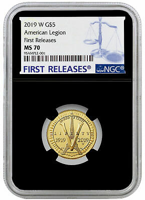 2019 W American Legion 100th $5 Gold Commem NGC MS70 FR Black PRESALE SKU57443