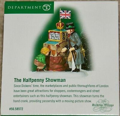 Department 56 DICKENS' VILLAGE The HALFPENNY SHOWMAN #56.58572 Heritage Village
