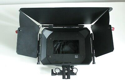 MovoFilms MB-600 Matte Box for DSLR and cinema camera rigs using 15mm rods