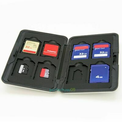 Aluminum 8 Slots Micro SDHC SD Memory Card Protecter Carrying Case Holder Cool