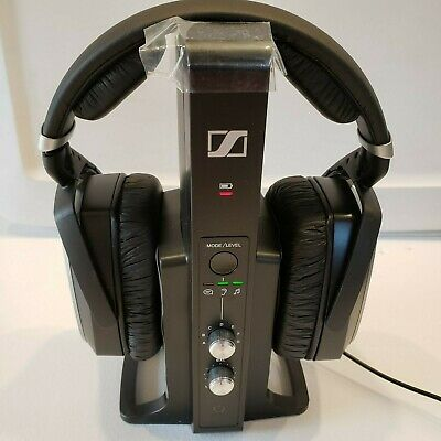 Sennheiser RS195 Headphones Digital Wireless System Black TV/HIFI Open Box