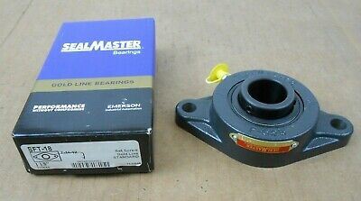 Two-Bolt Flange FNOB Sealmaster SFT-24 Flange-Mount Ball Bearing