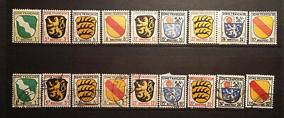 Germany, 1945, french occup. zone, 18 stamps, MNH/MH/used