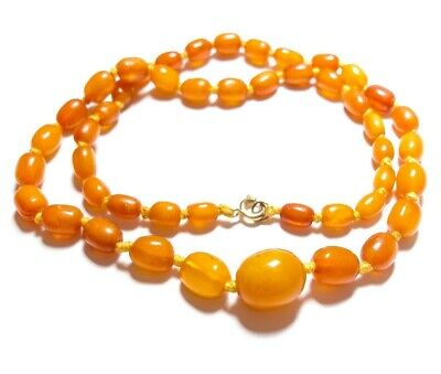 Beautiful Vintage Or Antique Amber Bead Necklace No.2