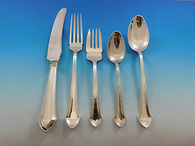 Essex by Durgin Sterling Silver Flatware Set for 6 Service 34 Pieces