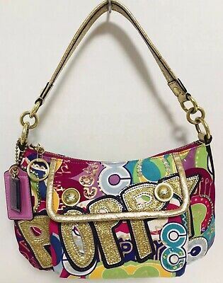 ebfb58acd2c Coach Poppy Pop C Applique Graffiti Multicolor Groovy Crossbody Handbag  15325