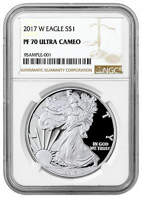 2017 W 1 oz Proof American Silver Eagle $1 NGC PF70 UC SKU45554