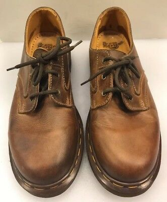 eb12b350b444 DR MARTENS DOC Oxfords Lace Up Shoes Brown Leather England Made ...