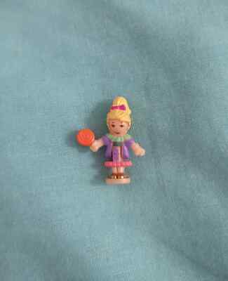 POLLY POCKET 1996 VINTAGE POLLY FIGURE DOLL from SWEET TREAT SHOPPE GLITTER BOOK