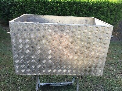Large open top aluminium alloy checker plate tool box ute truck trailer toolbox
