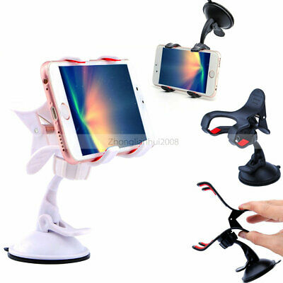 White -ZH249 360° Car Car Windscreen Flip Holder Stand For Cell Phone GPS Apple