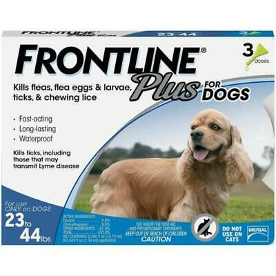 Frontline Plus Flea and Tick Control for 23 to 44-Pound Dogs 3 doses pack
