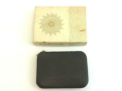 Vintage Used Buxton Key-Tainer Zippered Black Wallet with Original Box
