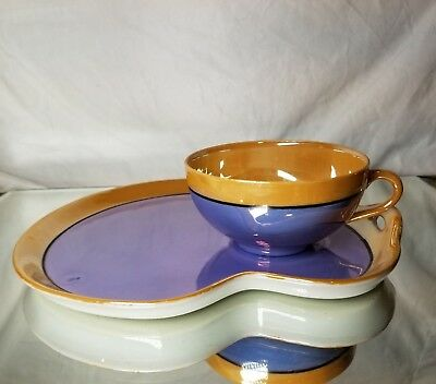 Vintage Seiei & Co. Japan Lusterware Tea Cup and Saucer Plate