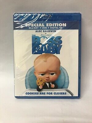 The Boss Baby (Blu-ray + DVD + Digital HD) **New, Free shipping**