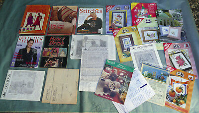 Bulk Lot Woman's Day Book of Sewing Sew Fancy Dress Tapestry Charts Embroidery