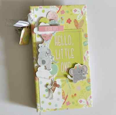Handmade Mini flip Album - Baby Girl  - would make a great gift!