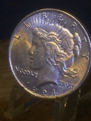 1924- Peace Silver Dollar Choice AU/UNC. Really Nice. No Reserve.