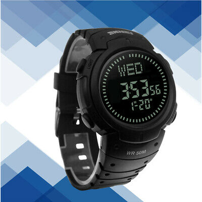 Men's Compass Countdown LED Digital Wrist Military Watch Black FAST SHIPPING