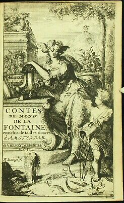 Lafontaine CONTES ET NOUVELLES 1685 De Hooghe 1ST COLLECTED & ILLUSTRATED ED NR