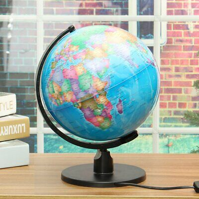 LED light World Earth Globe Map Geography  Educational Toy With Stand Home Offic