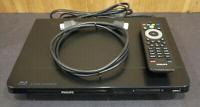 Philips BDP2105/F7 3D Blu-ray DVD Player Wi-Fi Smart Streamer & Remote & 5' HDMI