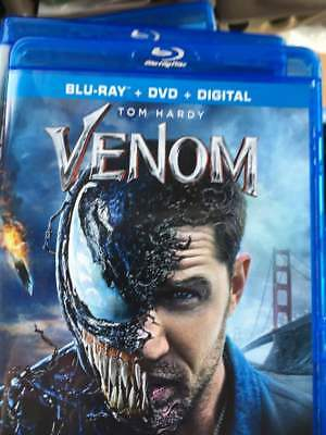 Venom (2018) Blu-Ray No DVD/Digital/Slip Like New FAST FREE Combine SHIPPING