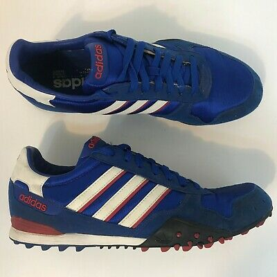 214aaa2356a01 Rare Vintage Adidas Originals Trainer Shoe 2003 Mens Size 10.5 Red White  Blue