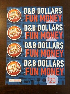 $100 Dave & Busters Fun Money Gift Card
