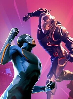 Omega vs Carbide Fortnite Game Poster - 11x17 - 13x19 - Glossy