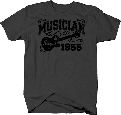 Musician Since 1955 with Guitar for Music Lover & Performer Tshirt
