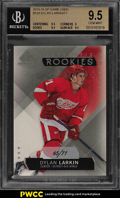 25833ad534e 2015 SP GAME Used Dylan Larkin ROOKIE RC  71  124 BGS 9.5 GEM MINT ...